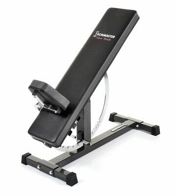 IRONMASTER Super Bench FID Incline Decline Gym Weight Lifting Workout Adjustable