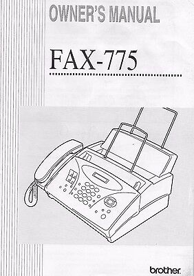 BROTHER FAX-775 OWNER'S MANUAL (1996-2001) - w/ Reference Guide VG