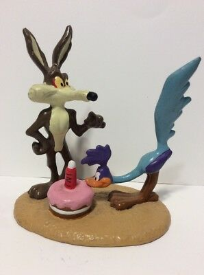 Vintage 1995 Loony Toons Wile E Coyote Roadrunner PVC Figure, Applause, Rare