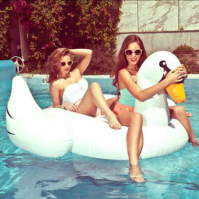 Swan Float Inflatable Leisure Giant Rideable Raft Swimming Pool Sea Hot Sale