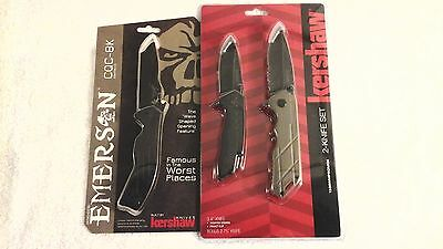Lot 3 New Kershaw Emerson Knives CQC-8K 1336 Set Assisted Opening Knife buck 8K
