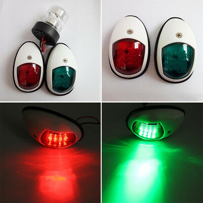 12V NAVIGATION LIGHTS BOAT PORT & STARBOARD - WHITE Marine/Boat Red&Green