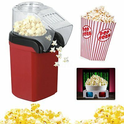 Nostalgia Counter Top Cup Air Pop Popcorn Maker Red Style New Machine