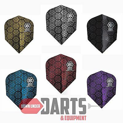 5 or 10 Sets Harrows Atomic 100 Micron Dart Flights - Choose Your Colour
