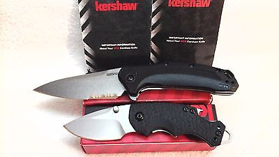 Lot of 2 New Kershaw Knives Link 1776ST & Shuffle Assisted Opening Knife USA Kai