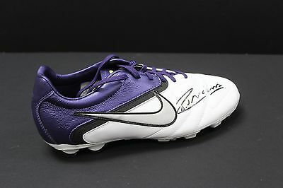 Iniesta Hand Signed White Size 8 Nike Football Boot