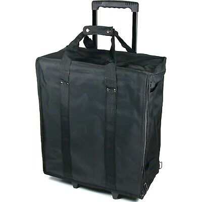 Large Jewelry Display Rolling Carrying Case W/ 17 Trays
