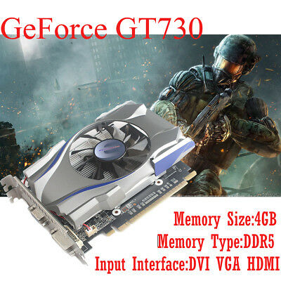 NEW NVIDIA GeForce GT730 4GB DDR5 128Bit PCI-Express Video Graphics Card Top