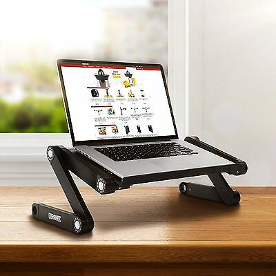 Duronic DML121 Ergonomic Folding Notebook Tablet Breakfast Bed Tray Table Stand