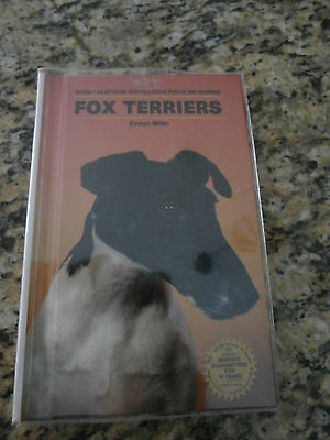 FOX TERRIER BOOK by EVELYN MILLER  with plastic jacket ~SMOOTH & WIRE HAIRED