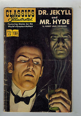CLASSICS ILLUSTRATED COMIC No. 13 Dr Jekyll & Mr Hyde 15c HRN 167