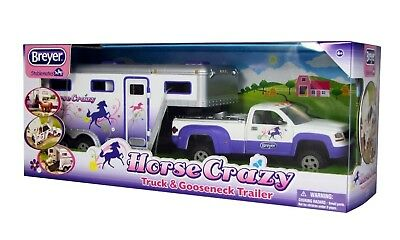 BREYER Horse Crazy Truck and Trailer Stablemates 1:32 Scale Model Toy Horse 5369