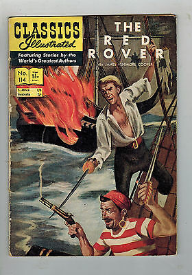 CLASSICS ILLUSTRATED COMIC No. 114 The Red Rover 1/- HRN 115