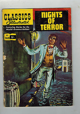 CLASSICS ILLUSTRATED COMIC No. 148 Nights of Terror HRN 141