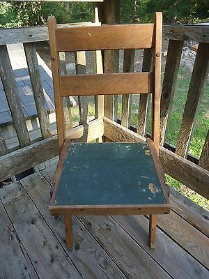 Burrowes Folding Chair, Wood Camp Chair,1900's, Antique