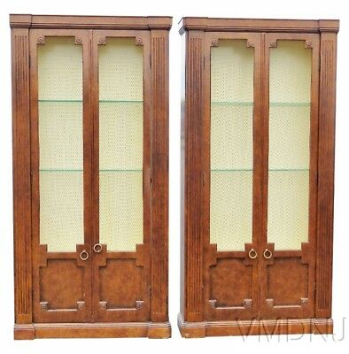 VMD1458-Pair Directoire Style Walnut Bookcases