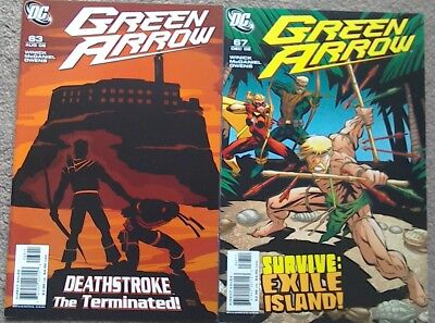 2 Green Arrow comics DC Deathstroke