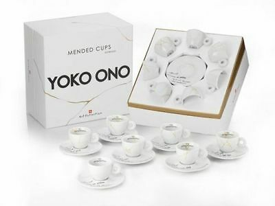 Yoko Ono Illy Art Collection Mended Cups Espresso Set - New