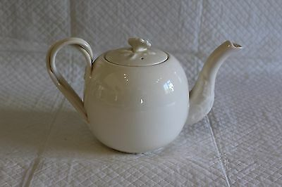 Hartley Greens Leeds Pottery Creamware Twisted Handle Teapot