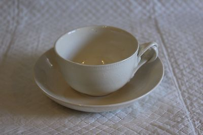 Leeds Pottery Creamware Twisted Handle Cup & Saucer