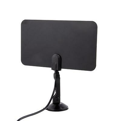High Gain Digital Indoor TV Antenna HDTV DTV Box HD VHF UHF Flat Design 1080P KJ
