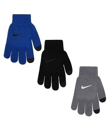 Nike Boys Cold Weather Gloves- Big Kid -Touch Screen Fingertip- 3 pairs-Youth