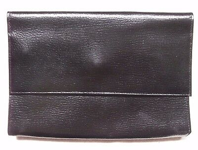 USEFUL VINTAGE CASE WALLET REAL LEATHER CARDS PHONE NOTES ETC. 1980s 1990s