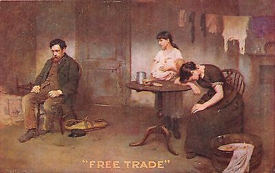 Postcard    Politics  Free  Trade    Vote  For  Flannery