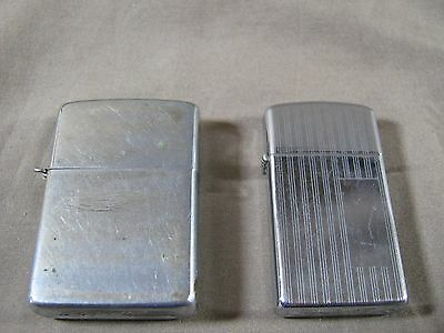 Set of Two Vintage Used Zippo Lighters w/ Inserts 1976 • $7.99