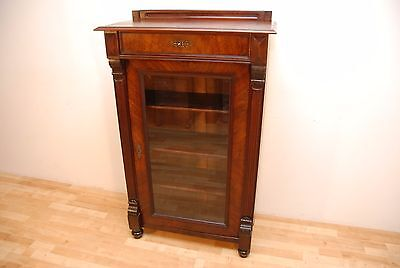 Antique French Rosewood Bookcase/Display Cabinet