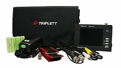 "Triplett CamView W35V Wrist Mounted Test Monitor w/3.5"" LED for Security Cameras"