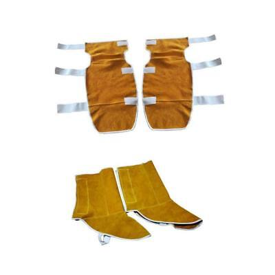 Welding Gear Knee Pads + Shoes Cover Welder Safety Flame Resistant Orange
