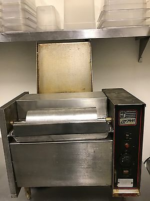 Apw Wyott M-95 Commercial Vertical Conveyor Bun Grill Toaster With Butter Wheel