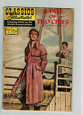 CLASSICS ILLUSTRATED COMIC No. 6 A Tale of Two Cities - 15c  HRN 167