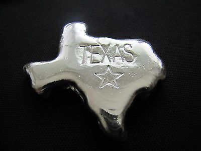 HACMint 4.5 oz 999+  Fine Silver TEXAS STATE Hand Poured ART BAR
