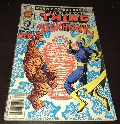 Marvel Two in One #61 Newsstand 1st Full HER Ayesha GOTG Vol. 2 Movie KEY Comic