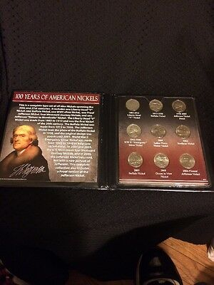 100 Years of American Nickels - 1883 - 2006 A.D. with a Silver and Proof Nickel
