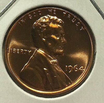 1964 Proof Lincoln Cent Pulled From U.s. Mint Set Wow Look