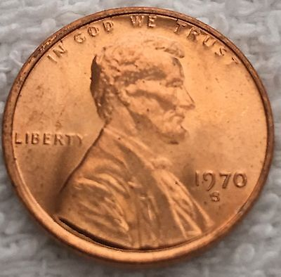 1970-S Lincoln Cent Pulled From A U.s. Mint Set Wow Look