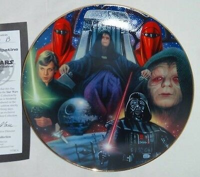 STAR WARS COLLECTOR PLATE Emperor PALPATINE HEROES & VILLAINS w/COA NEW HAMILTON