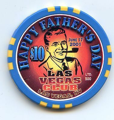 Las Vegas Club Casino Fathers Day $10 Chip