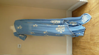 "powder blue BN + 40"" blouse  bollywood Indian salwar kameez SARI lengha SA13146"