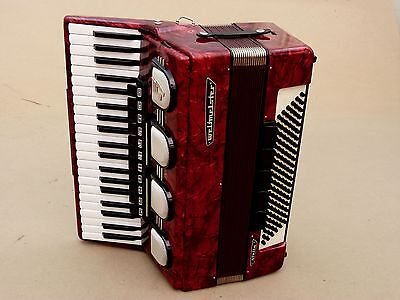 Very Nice German Accordion Weltmeister Stella 120 bass Including Case