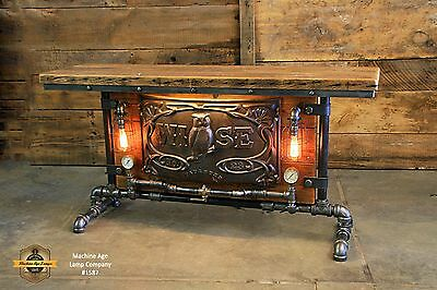 Steampunk Lamp Industrial Machine Age Wise Boiler Table Sofa Side Console Stand