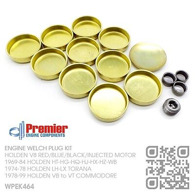 WELCH BRASS SS FREEZE PLUG SET FOR HOLDEN COMMODORE 3.8L VN VG VP VR CALAIS