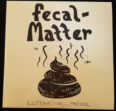 FECAL MATTER ILLITERACY 2x LP NEW VINYL Nirvana Melvins Kurt Cobain King  Buzzo