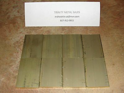 "1/4"" X 2"" X 2 15/16"" Brass Flat Bar 2 Pc C360 Discounted Item!"