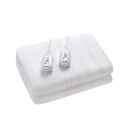 QUEEN SOFT Electric Heat Blankets Underblanket WASHABLE Fitted Protector