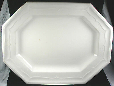 Large Antique White Ironstone Platter - 1851 - T. & R. Boote