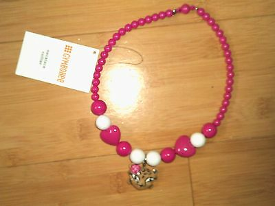 NWT Gymboree Girls Pink Leopard Necklace NEW 2T 3T 4T 4 5 6 6X 7 8 10 12